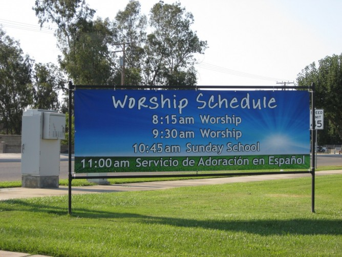 Custom signs banners sign time of visalia celebrating 24 years